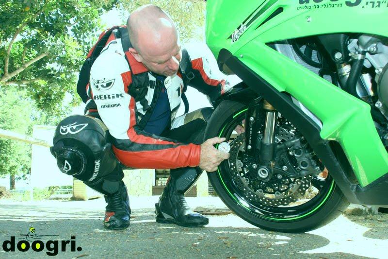 לחץ אוויר נכון באופנוע