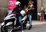 ימאהה טריסיטי עושה בלאגן במילאנו