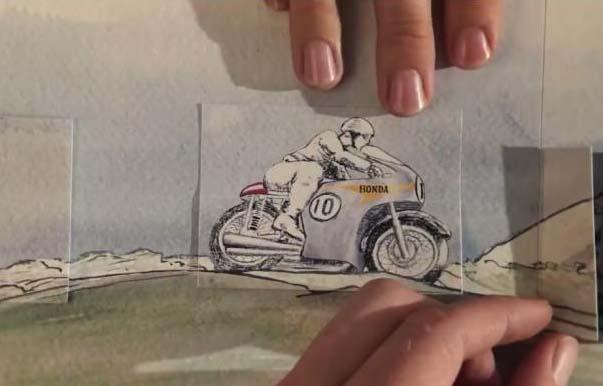 תולדות הונדה באנימציה גאונית (סרטונים מגניבים לחג)