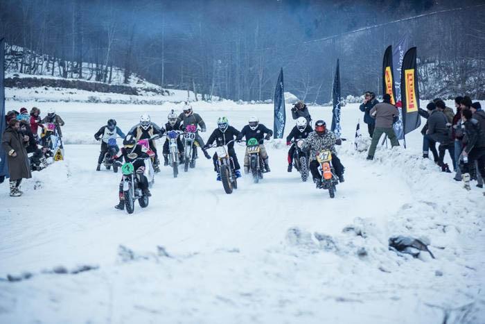 """חגיגת אופנועים באירוע """"רעידת שלג"""" איטלקי מוטרף"""