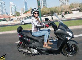 סאן יאנג ג'וירייד 125 S החדש במבחן בכורה בישראל