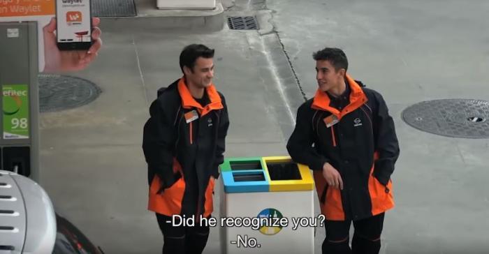 וידאו: מארקז ופדרוזה עובדים כמתדלקים בתחנת דלק