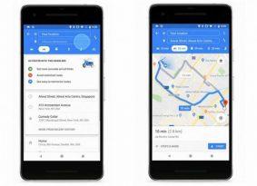 google map מוסיפה פונקציה לאופנועים
