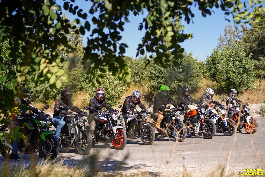 מוטו בוחן   אופנועי נייקד בנפח בינוני