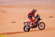 03 Price Toby (aus), KTM, Red Bull KTM Factory Team, Moto, Bike, action during the 7th stage of the Dakar 2021 between Ha'il and Sakaka, in Saudi Arabia on January 10, 2021 - Photo Frederic Le Floc'h / DPPI