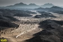 Landscape during the 4th stage of the Dakar 2021 between Wadi Al Dawasir and Riyadh, in Saudi Arabia on January 6, 2021 - Photo Charly Lopez