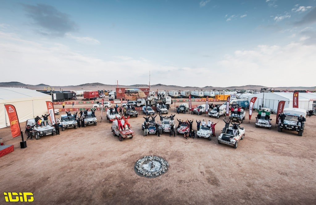 Classic crews during the Rest Day of the Dakar 2021 in Ha'il, in Saudi Arabia on January 9, 2021