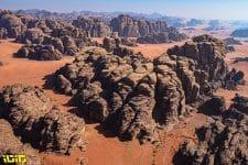 Landscape during the 8th stage of the Dakar 2021 between Sakaka and Neom, in Saudi Arabia on January 11, 2021 - Photo Eric Vargiolu / DPPI