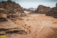 Landscape, Moto, Bike, action during the 10th stage of the Dakar 2021 between Neom and Al-Ula, in Saudi Arabia on January 13, 2021 - Photo Charly Lopez